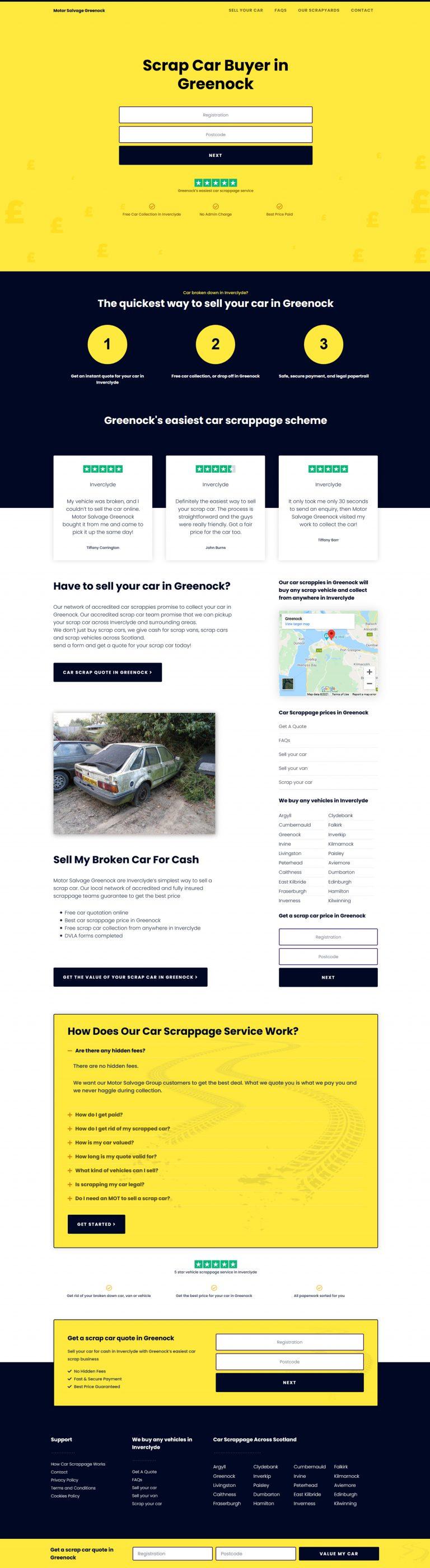 web design for motoring business