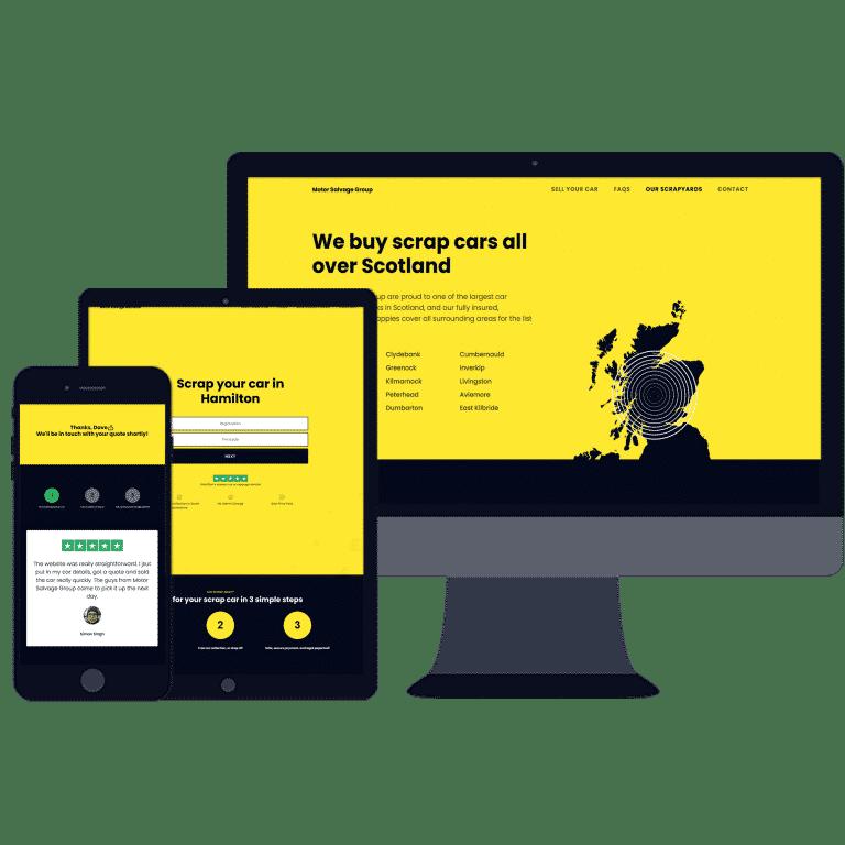 mobile responsive website design for car industry