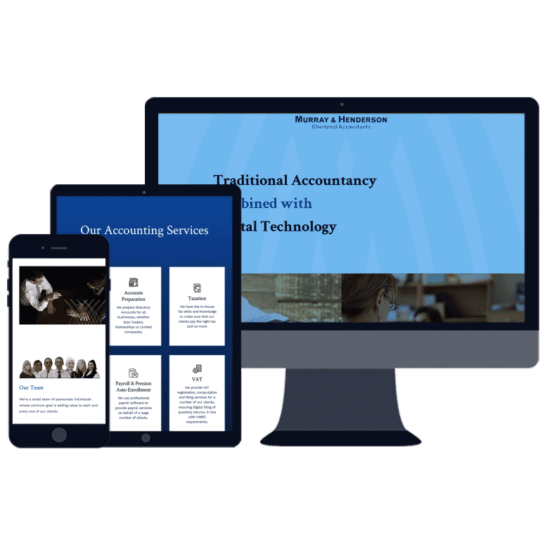 mobile friendly website for accountants
