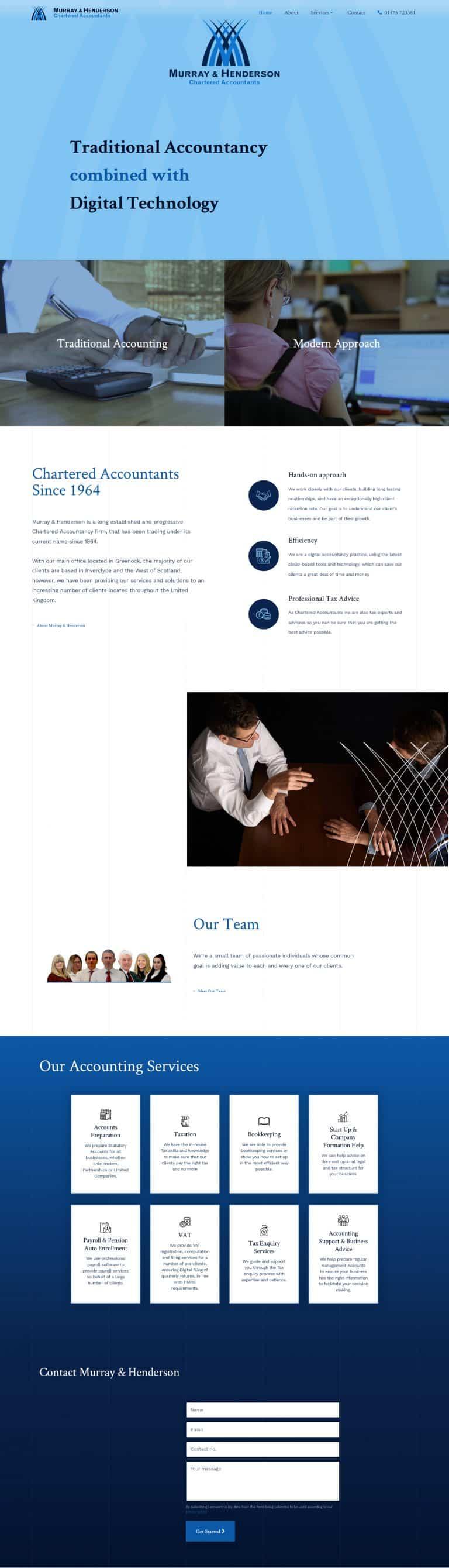 web designer for accountants business