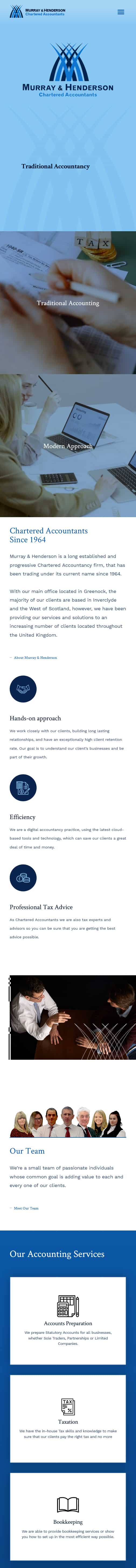 web design for financial sector