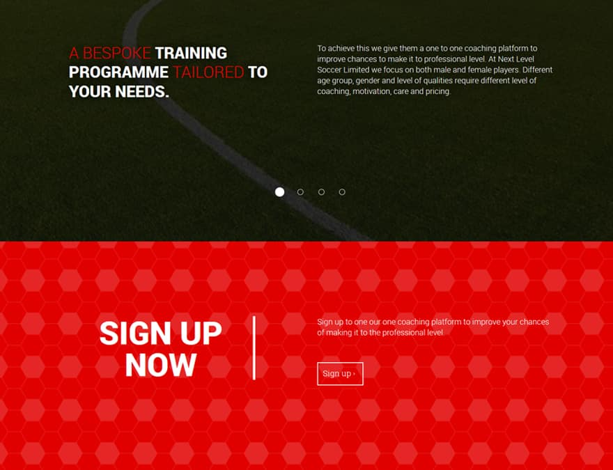 user conversion for sports membership website