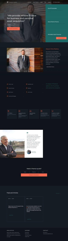 website designers for financial sector