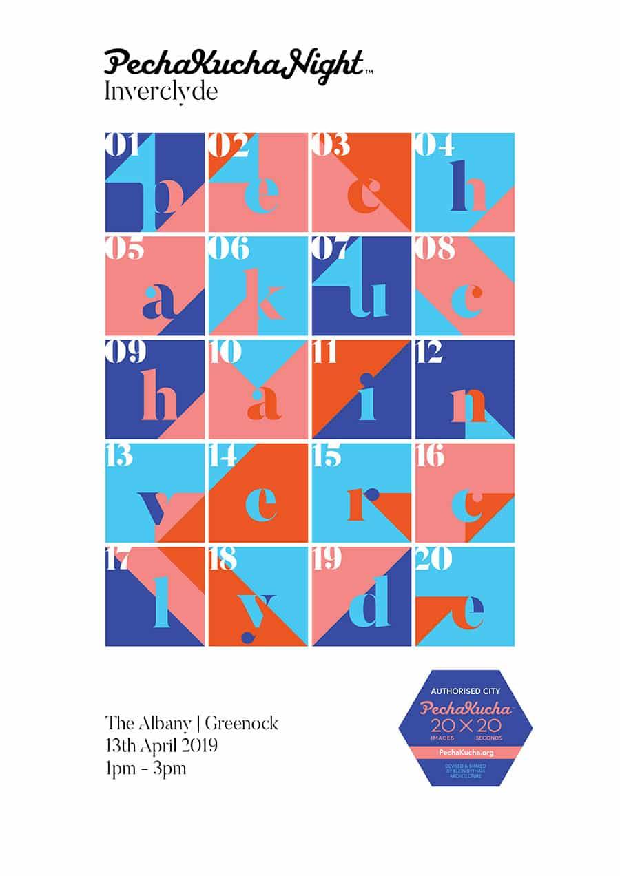 poster design for creative inverclyde