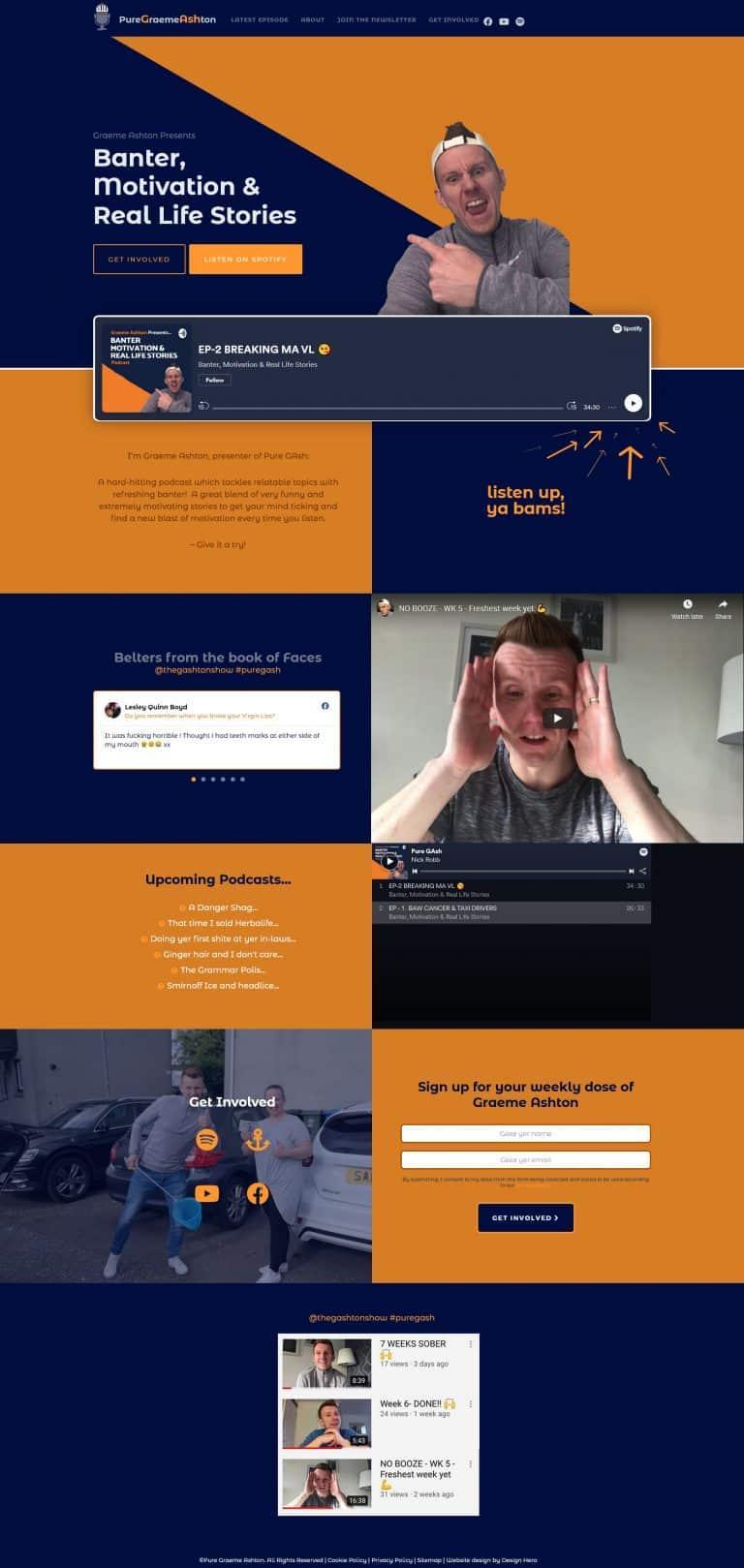 radio website for social media influencer