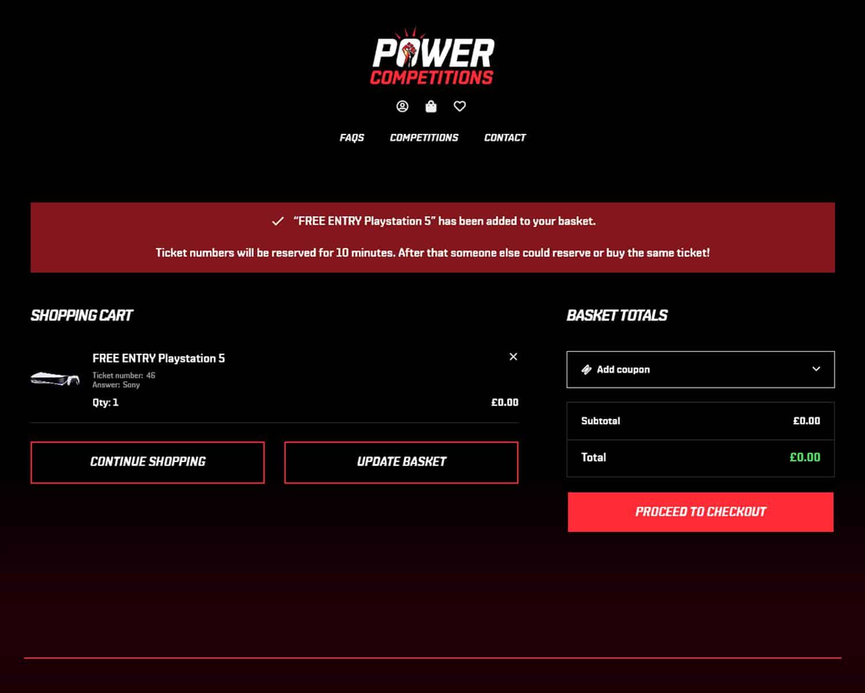 Online checkout for E-Commerce website