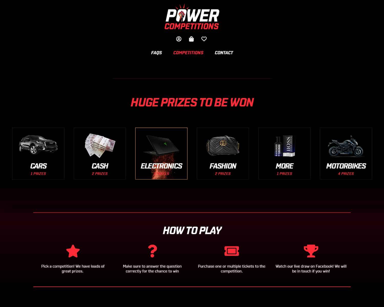 E-Commerce lottery website