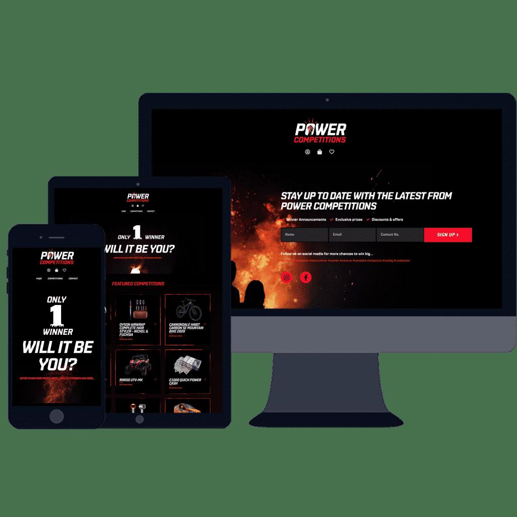 mobile responsive website for online lottery E-Commerce website