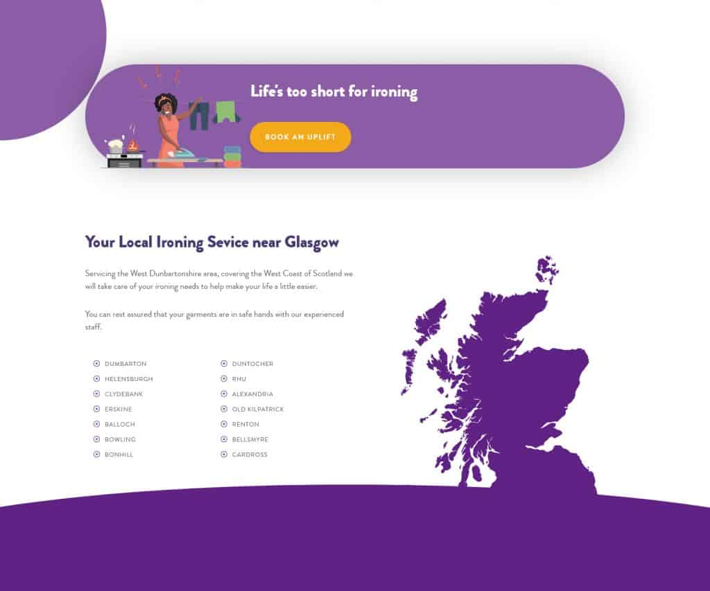 New website for business in Dumbarton