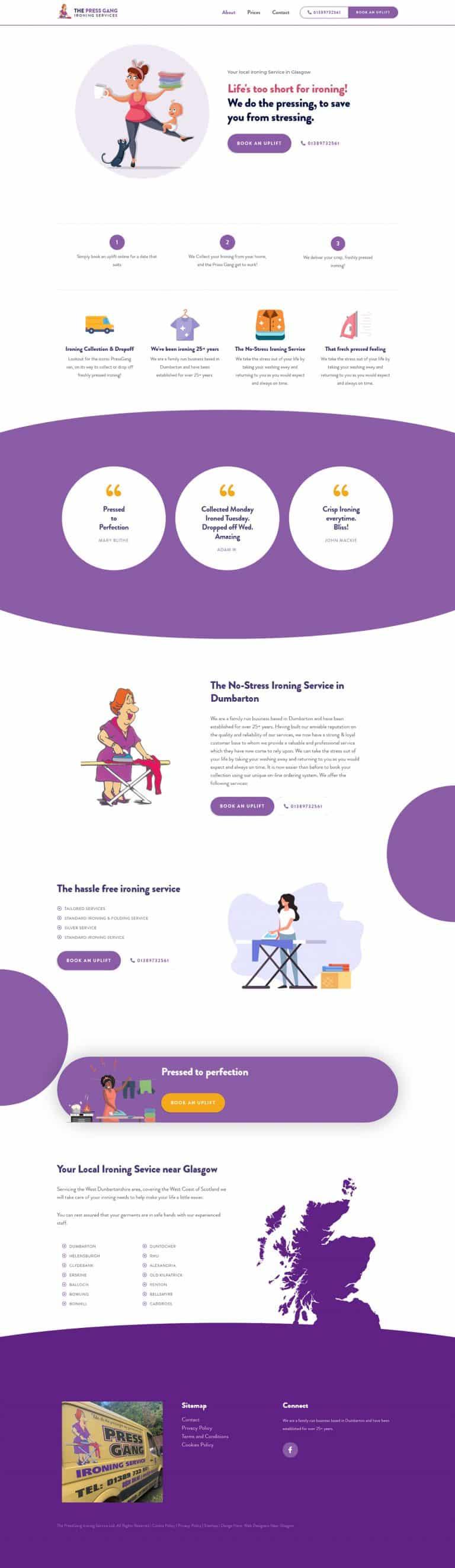 business website designers in Dumbarton