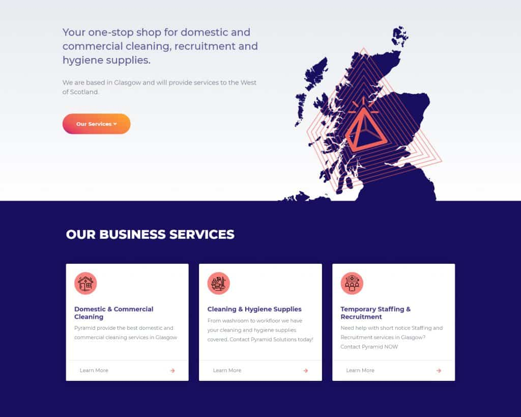 business website for Glasgow business