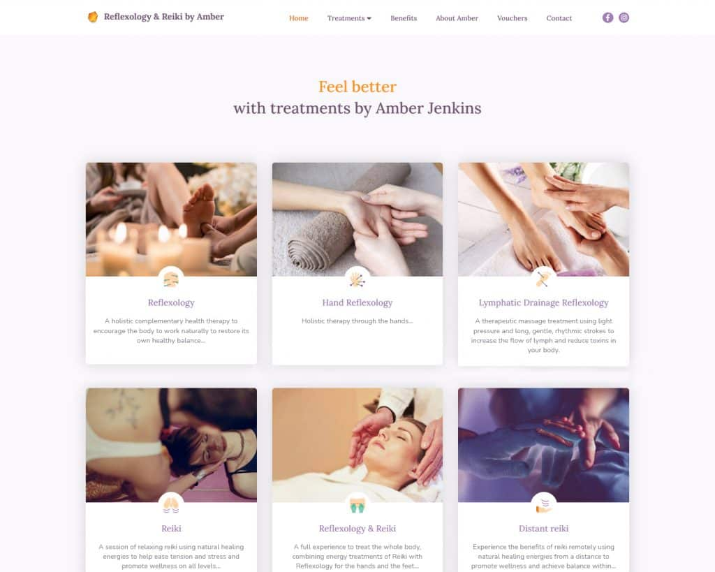 website design for therapist business in Gourock