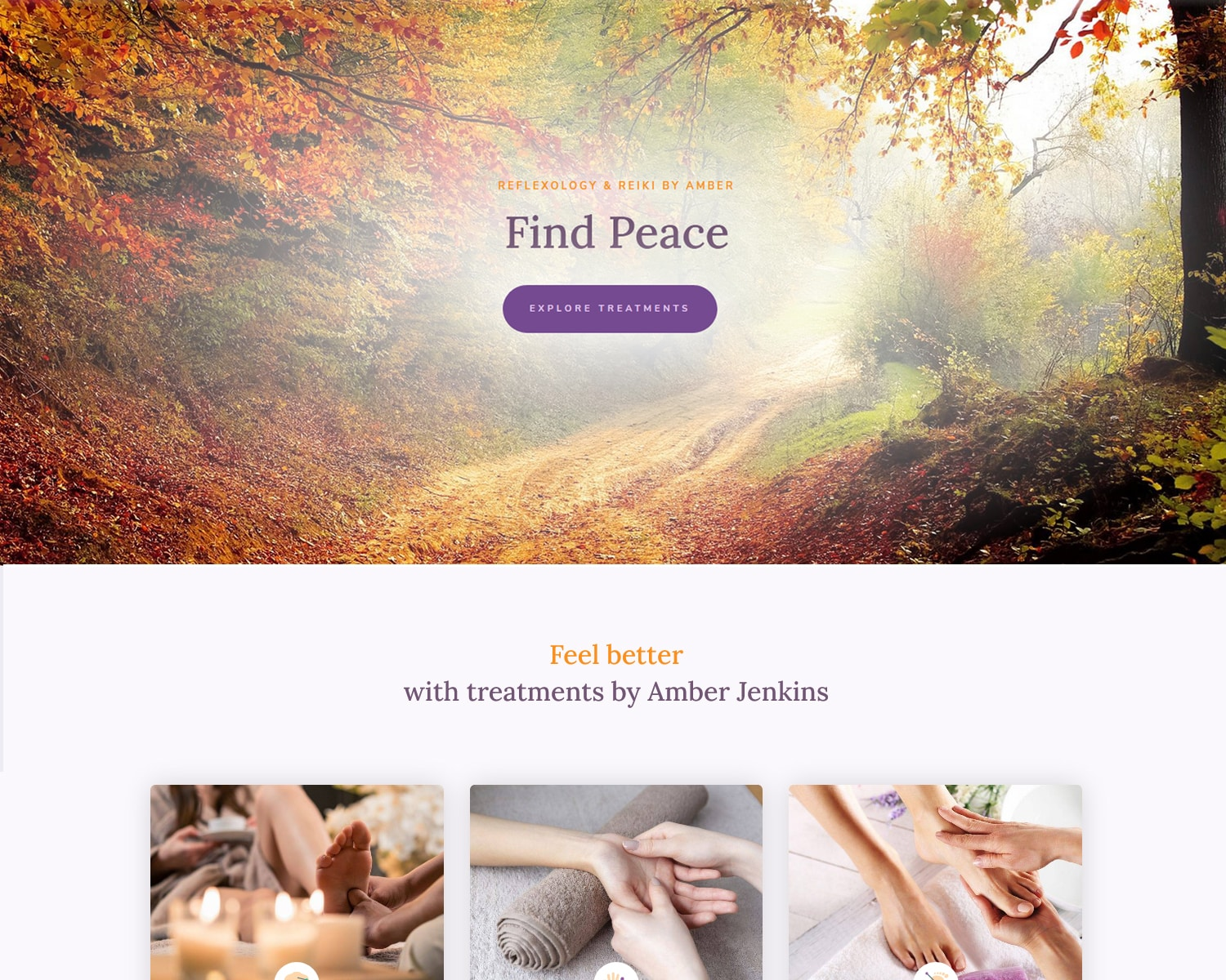 webpage website design for therapist business in Gourock