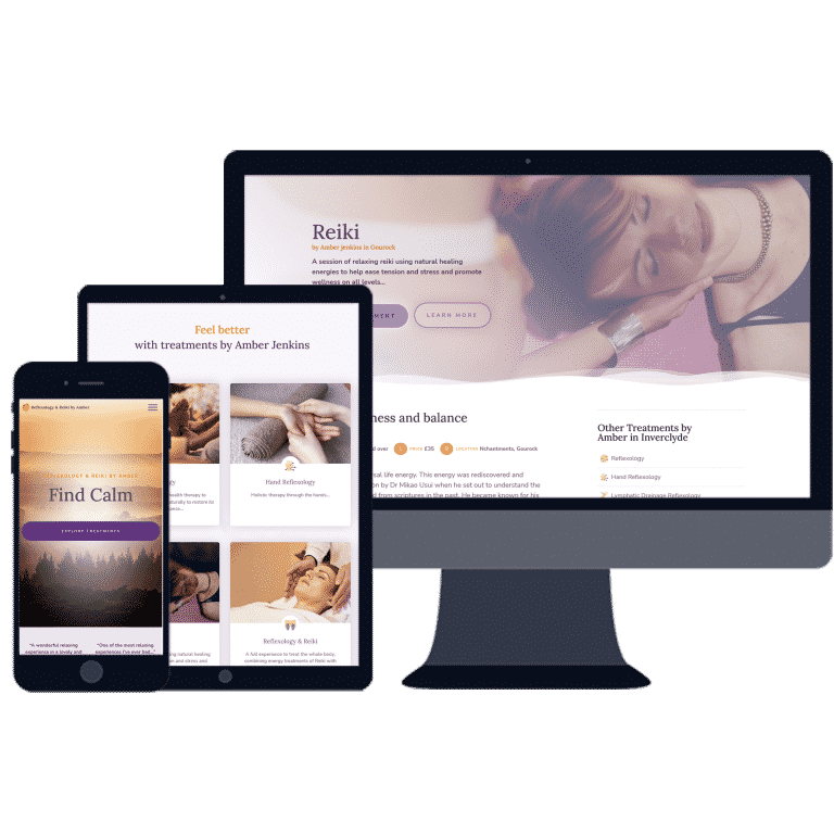 mobile responsive website for health business in Gourock
