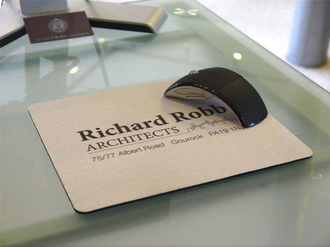 branded mousemats for architects