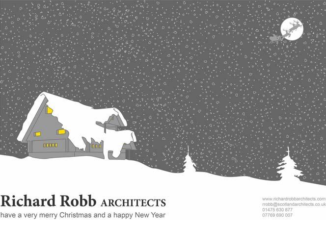 seasonal christmas card design