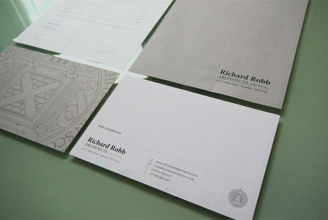 design of business stationery for architects