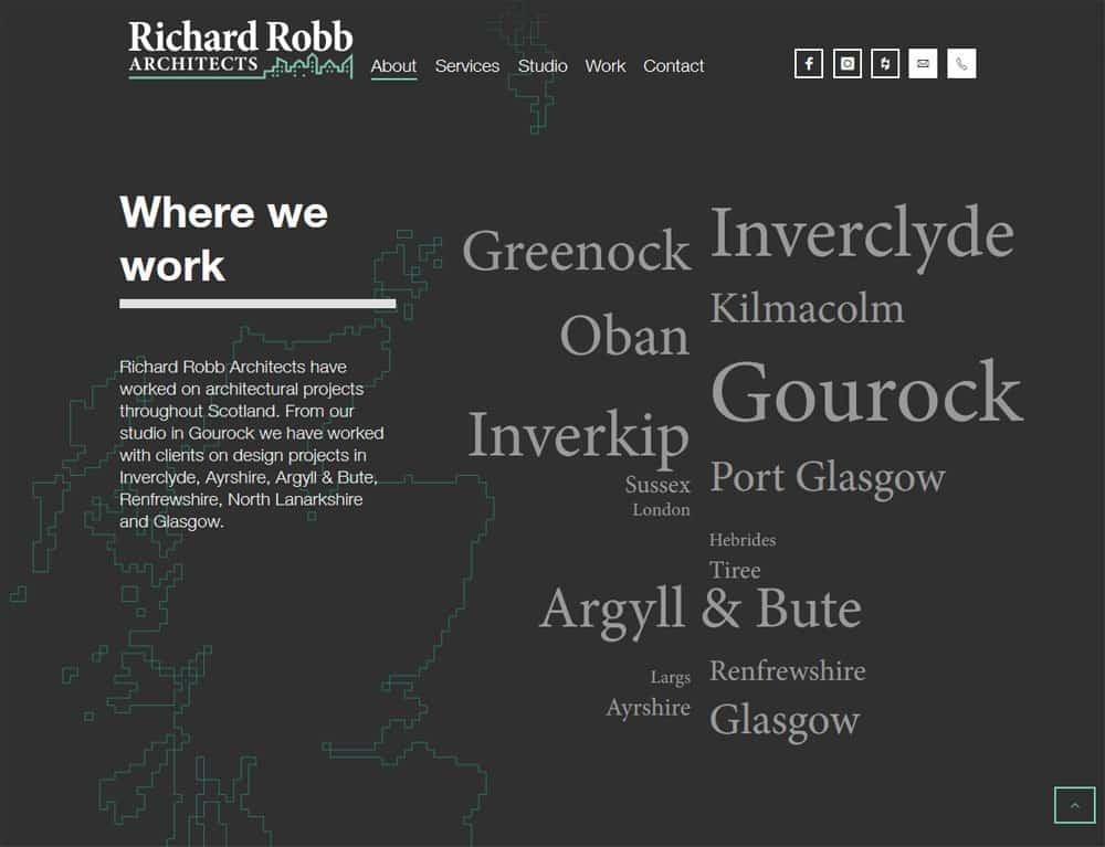 local landing page design for portfolio website