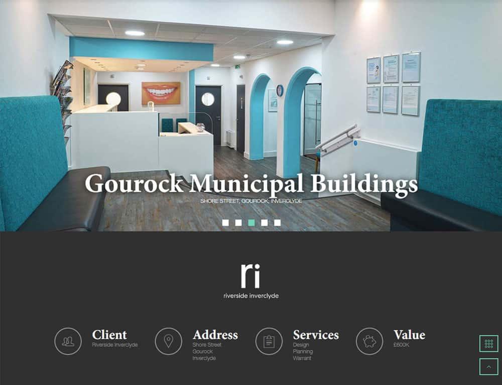 project portfolio design for gallery website