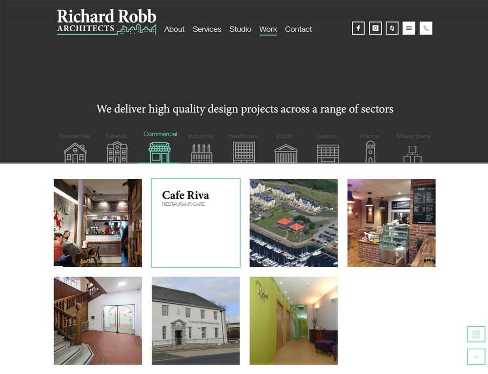 project gallery design for portfolio website