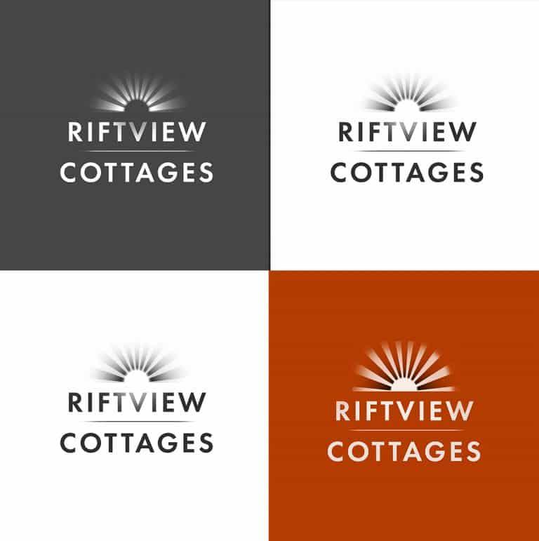 riftview cottage logo design