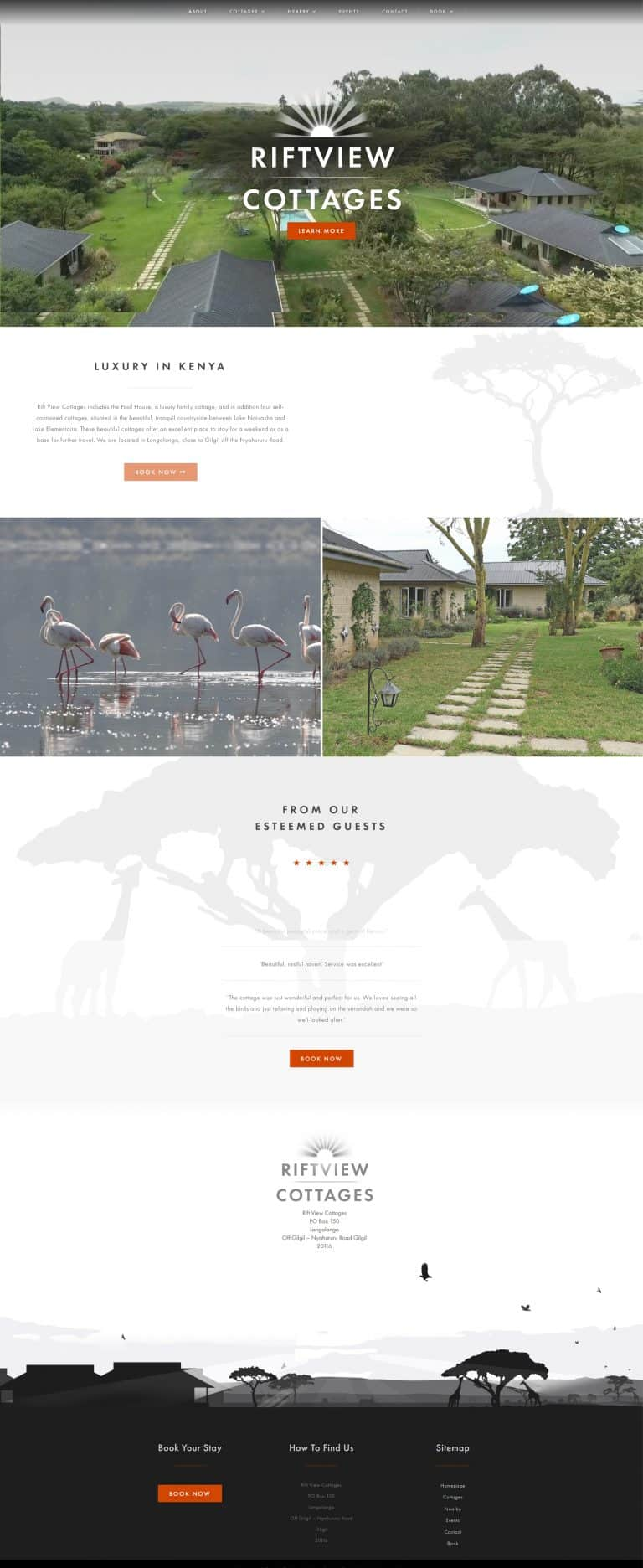 holiday Booking website design