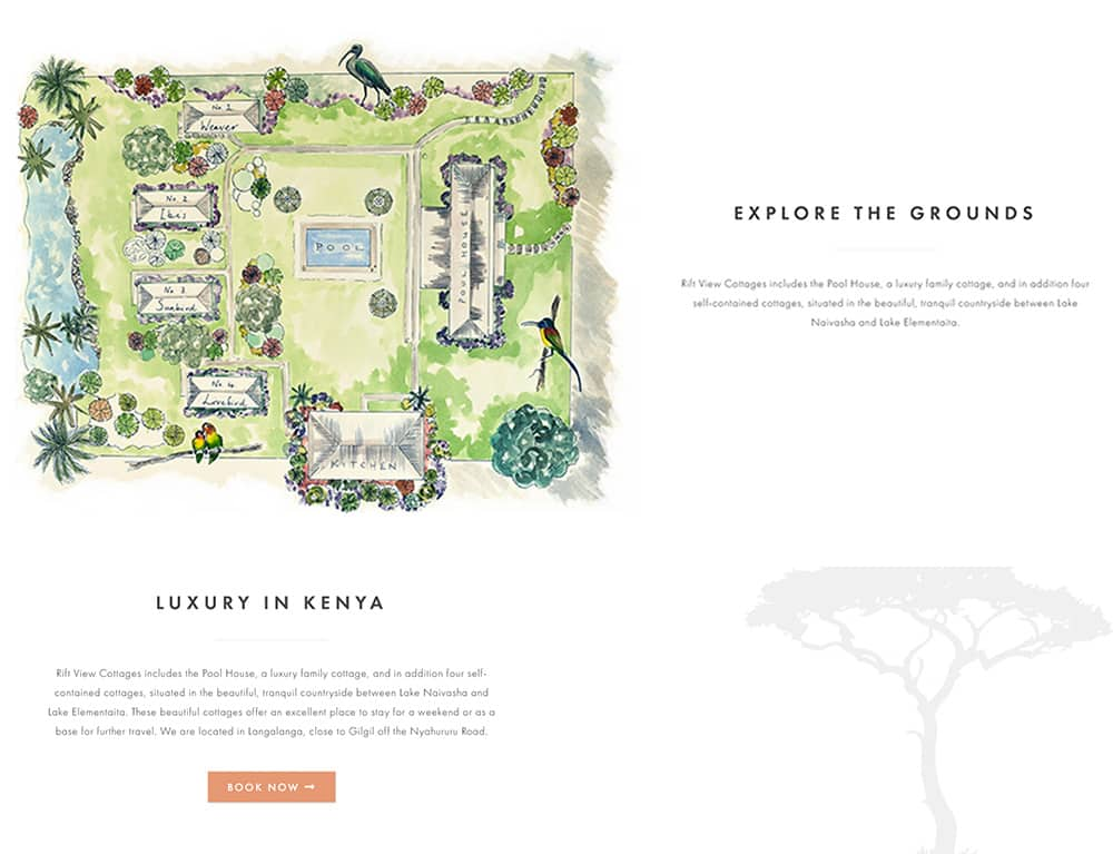 custom map design for holiday booking website