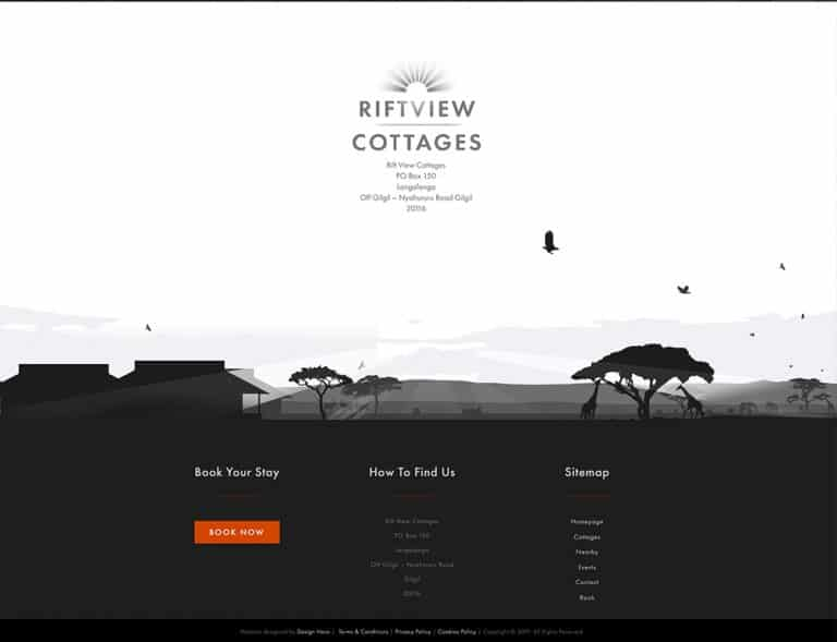 parallax design for holiday booking website