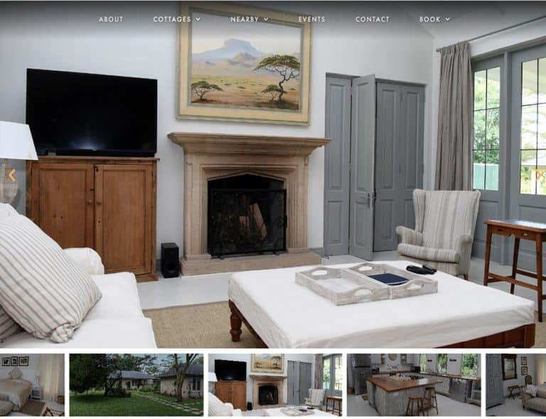media slideshow design for holiday booking website