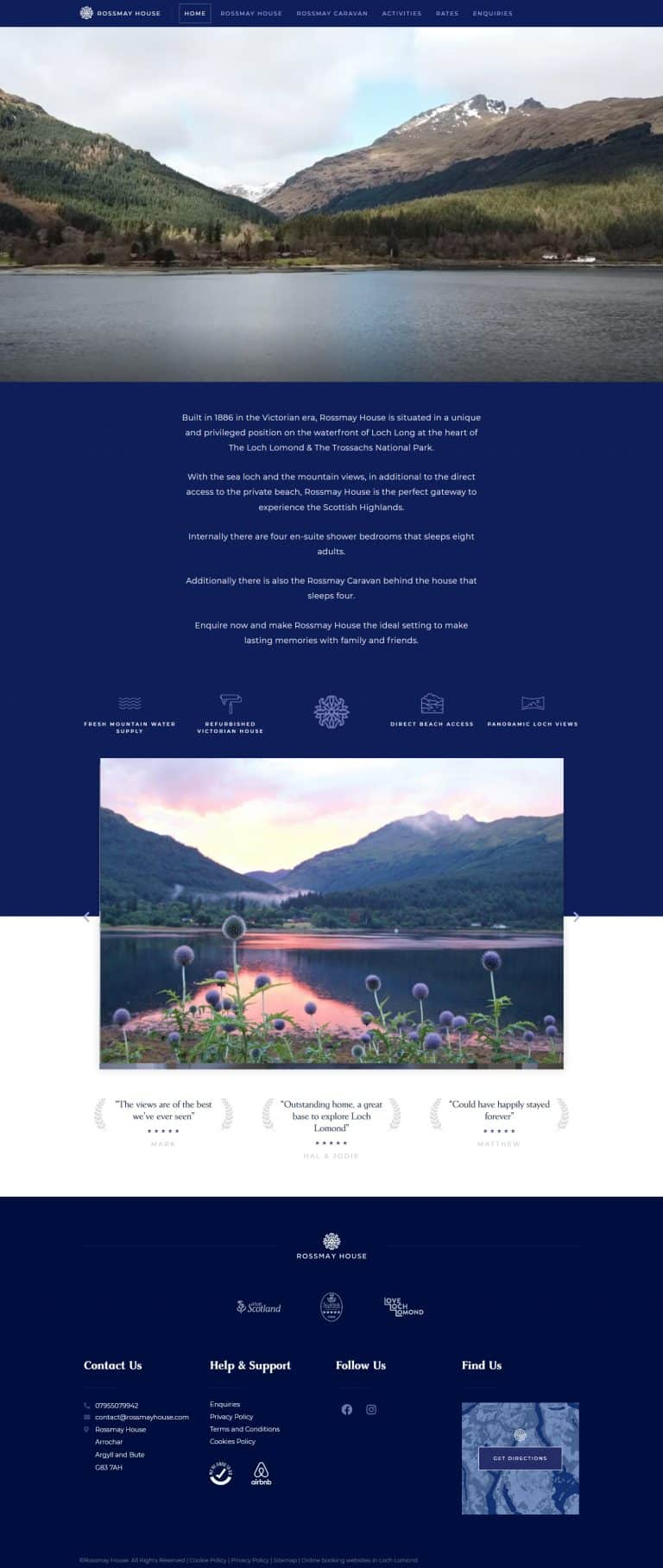 booking website in Loch Lomond