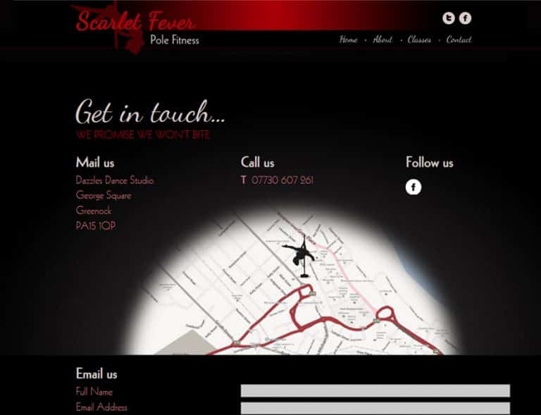 contact and map page design for business website