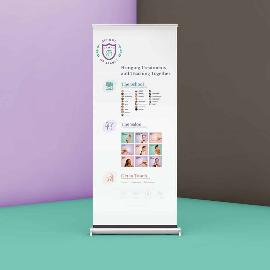 design of rollup banners for beauty salon