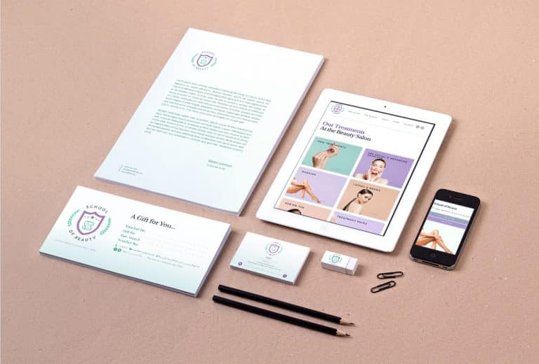 design of business cards for beauty salon