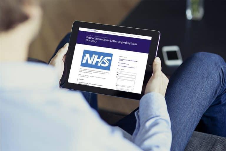 design of responsive website on tablet