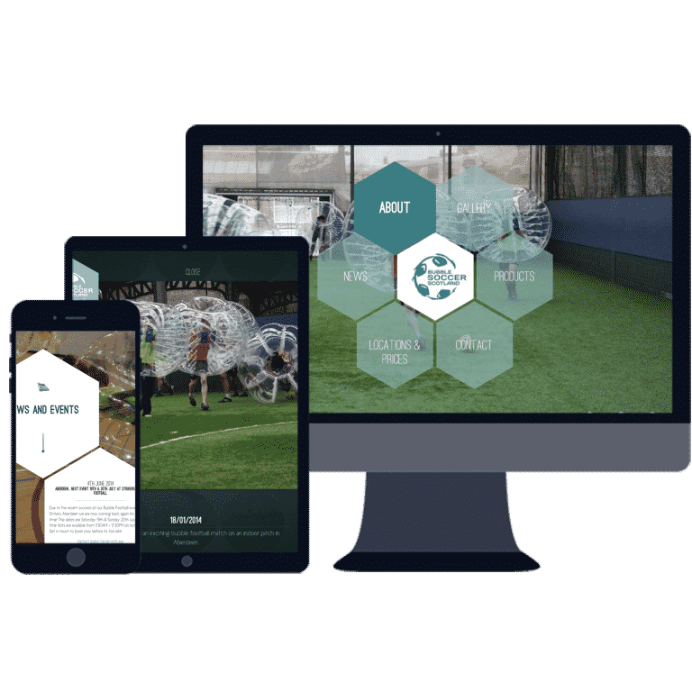 responsive website design for the events sector