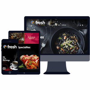 responsive website design for food and drink businesses