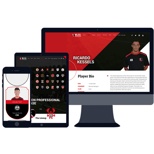 responsive website design for sports businesses