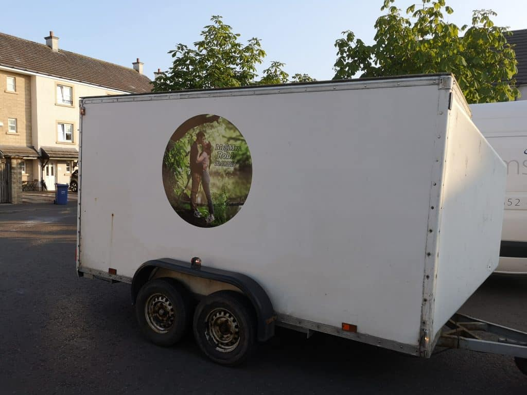 branded printed vinyl for trailer