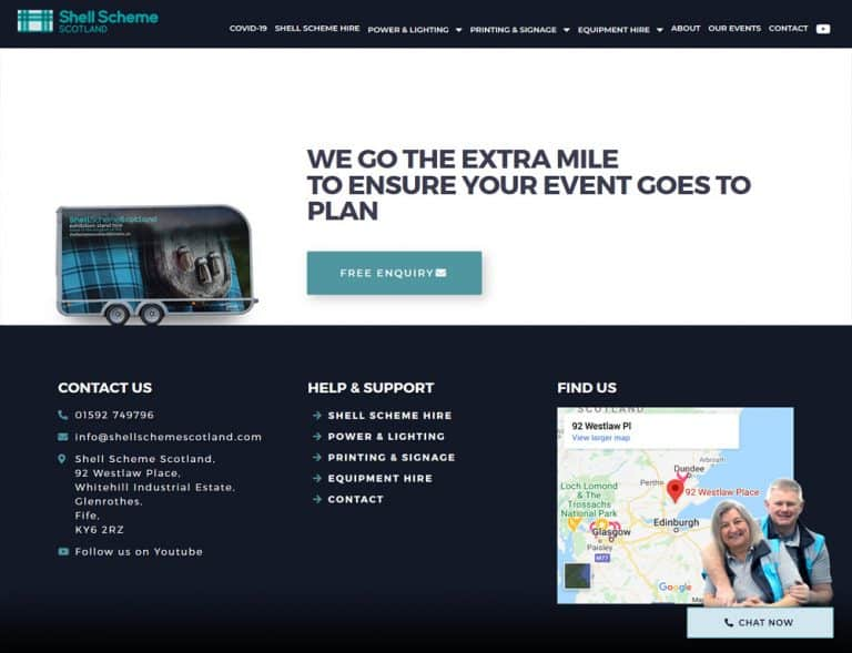 landing page conversion and call to action for website design