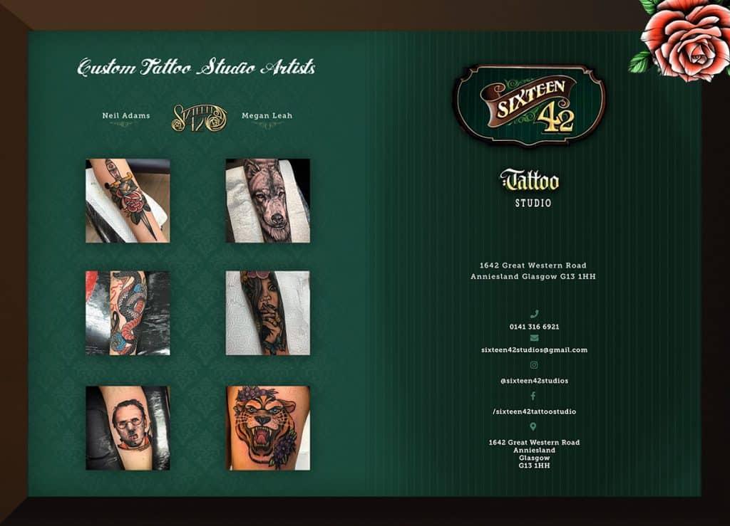 flyer design for tattoo studio