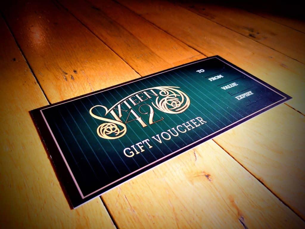 Design of gift vouchers for tattoo studio