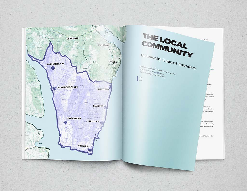 brochure design for community buyout
