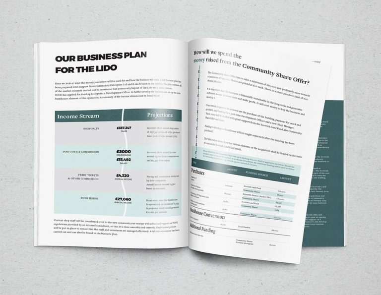 brochure design for community buyout