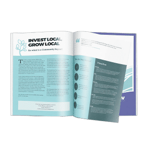 design and print of brochure for South Cowal community group