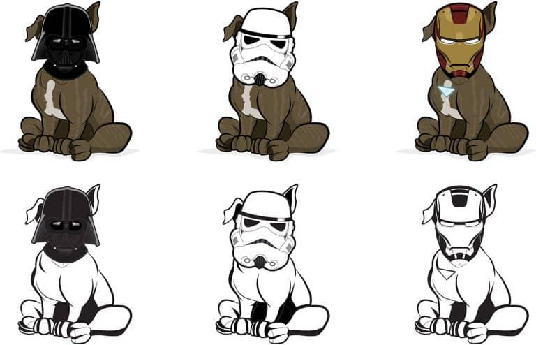 illustrated pet shop artwork