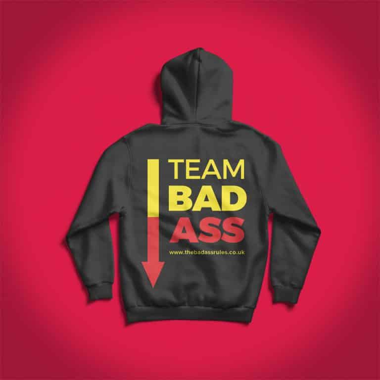 branded custom printed hoodies for the badass rules