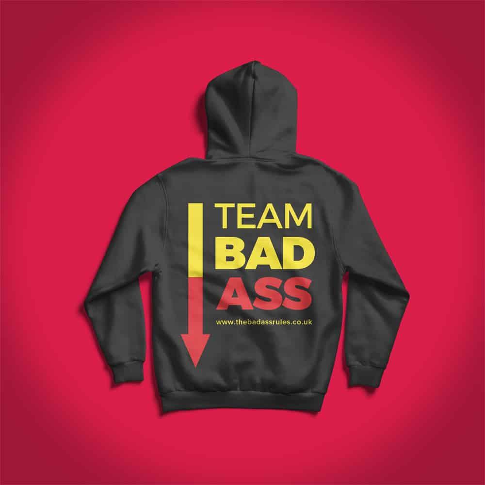 branded custom printed hoodies for the badass rules