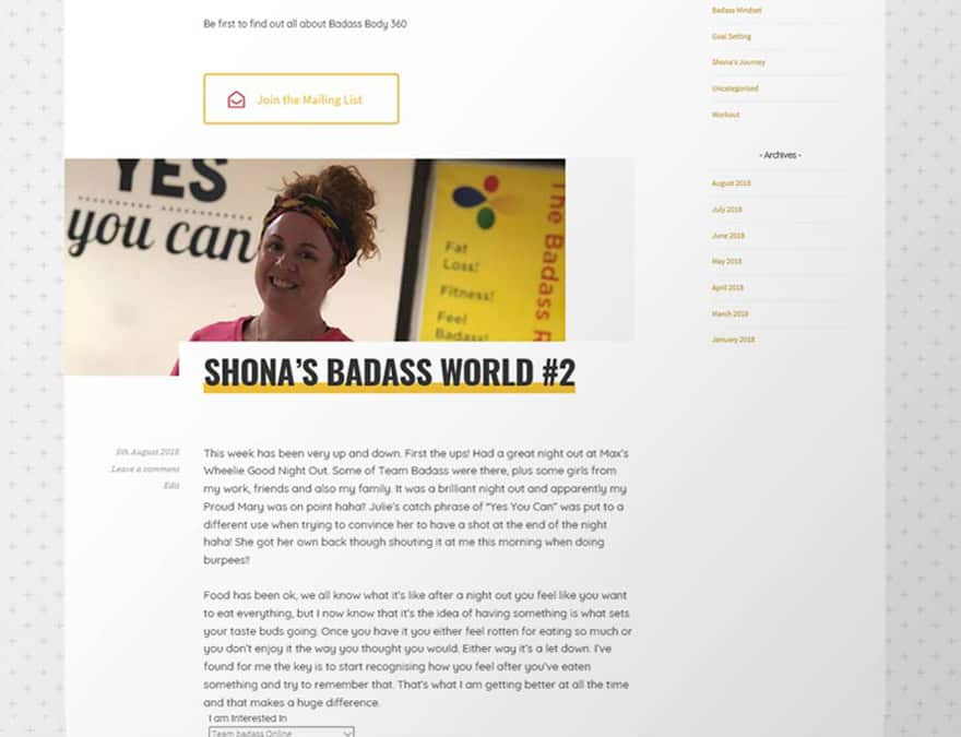 Blog posts for the Badass Rules website