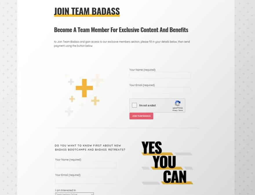 Custom contact form on blogging website