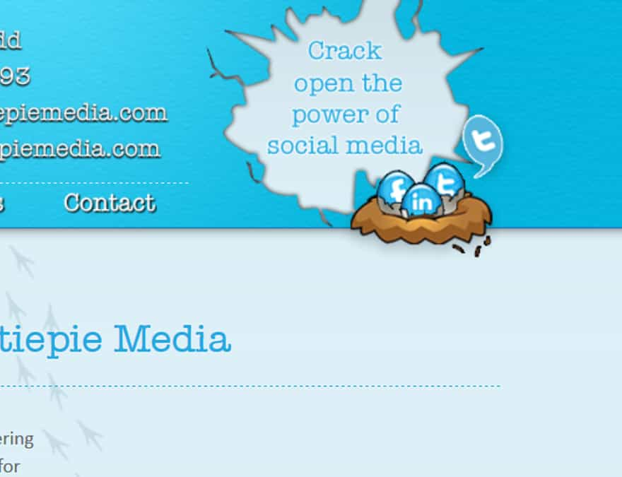 Social mediia integration for basic website for new business